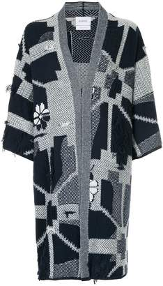 Barrie abstract geometric kimono cardigan