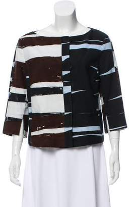 Akris Punto Cropped Three-Quarter Sleeve Jacket