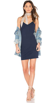 amour vert Chastity Mini Dress in Blue $148 thestylecure.com