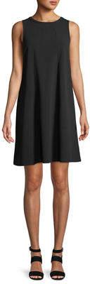 Neiman Marcus Double-Crepe Dress w/ Front Seams