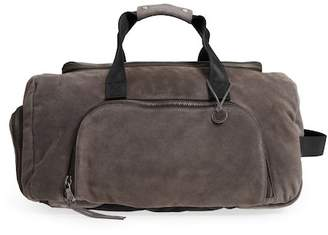 John Varvatos Brooklyn Suede Convertible Duffel Bag