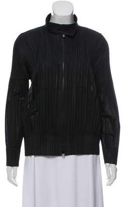 Pleats Please Issey Miyake Pleated Zip-Up Jacket