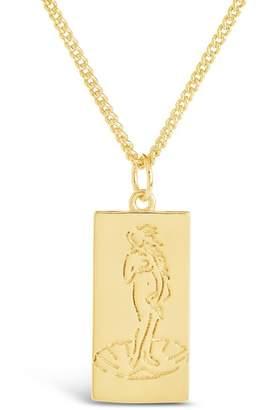 Sterling Forever Goddess Card Pendant Necklace