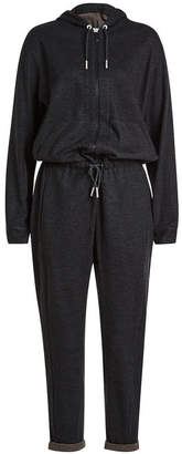 Brunello Cucinelli Cashmere Jumpsuit with Hood