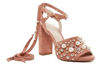 Kenneth Cole New York Dierdre Embellished Bead Wraparound Sandal