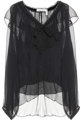 See by Chloe Silk-georgette blouse