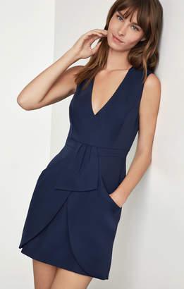 BCBGMAXAZRIA Clare Sleeveless Draped-Skirt Dress