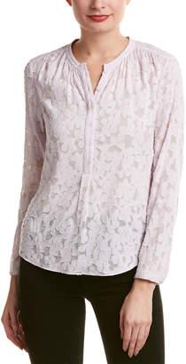 Rebecca Taylor Ivy Vine Silk-Blend Top