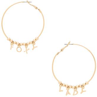 Ettika Foxy Lady Hoops in Metallic Gold. $40 thestylecure.com