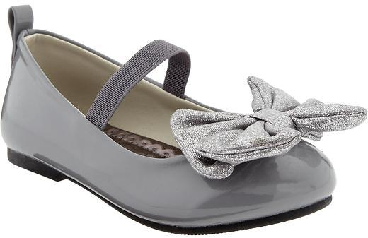 Old Navy Metallic Bow-Tie Mary Janes for Baby