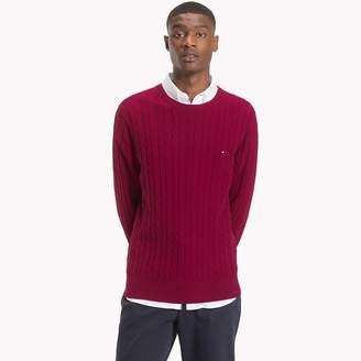 Tommy Hilfiger Cable-Knit Crew Neck Jumper