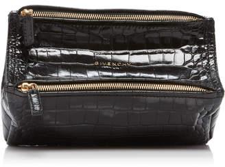 Givenchy Pandora Mini Croc-Effect Leather Shoulder Bag