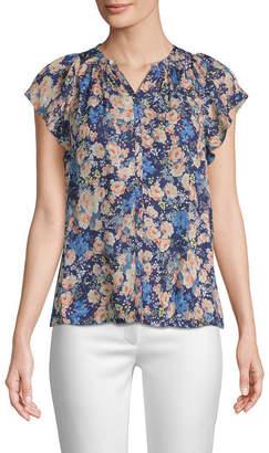 Rebecca Taylor Gigi Silk Floral Top