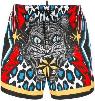 DSQUARED2 tiger swim shorts