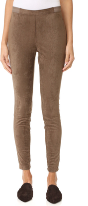 BB Dakota Wilton Faux Suede Leggings $95 thestylecure.com