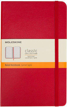 Moleskine NEW Classic Hard Cover Ruled Pocket Notebook Red