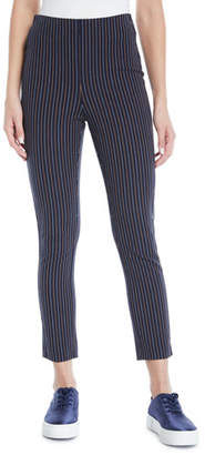 Derek Lam 10 Crosby Striped Cropped Cotton Leggings