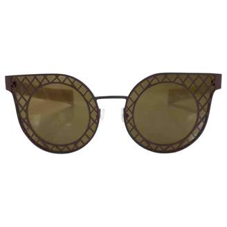 Salvatore Ferragamo Beige Plastic Sunglasses
