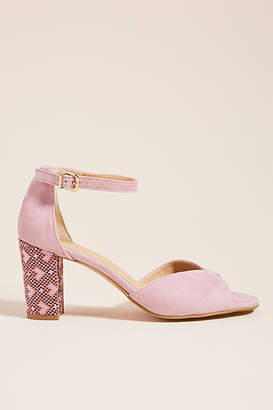 360fd0203fee Anthropologie Christie Printed Heeled Sandals
