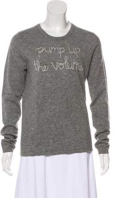 Lingua Franca Cashmere Embroidered Sweater