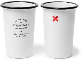 Best Made Company - Seamless & Steadfast Enamel Tumbler Set - White