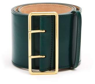 Alexander McQueen Wide Leather Waist Belt - Womens - Green