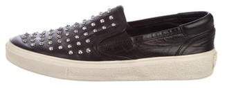Saint Laurent Studded Leather Sneakers