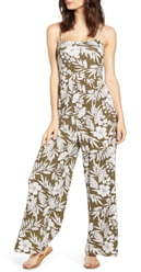 ALL IN FAVOR Tropical Floral Print Jumpsuit