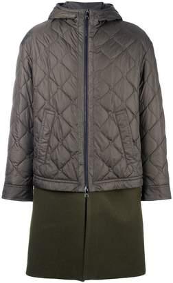 Neil Barrett padded contrast military coat