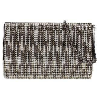 Chanel Silver Metal Clutch Bag
