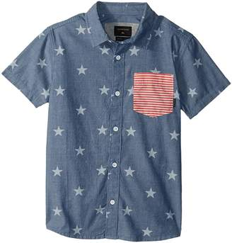 Quiksilver 4th Short Sleeve Top Boy's Short Sleeve Button Up