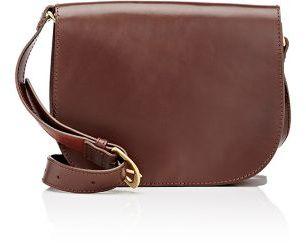 Barneys New York Women's Saddle Bag-DARK BROWN $250 thestylecure.com