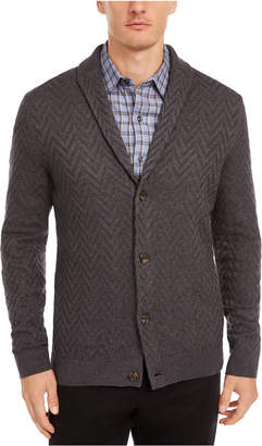 Tasso Elba Men Zig-Zag Shawl-Collar Cardigan