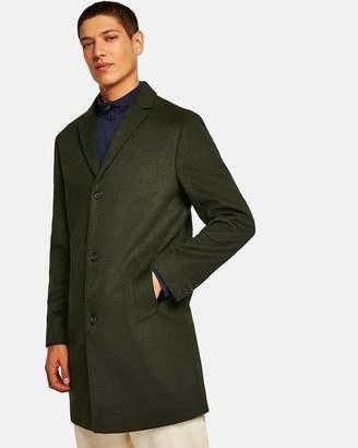 Topman Khaki Overcoat