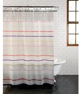 "Mainstays PEVA Stripe Shower Curtain Peekaboo - 70"" x 72"" - Easy Care - Colorful"