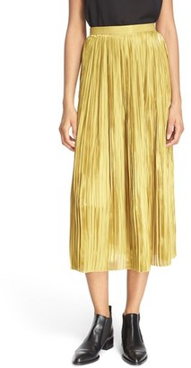 Women's Tibi Pleat Flume Skirt $595 thestylecure.com