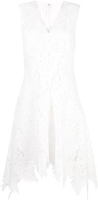 Josie Natori Palm lace sleeveless dress
