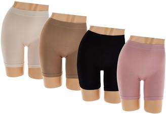 Breezies Set of 4 Seamless Long Leg Panties
