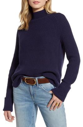 Treasure & Bond Marled Funnel Neck Sweater