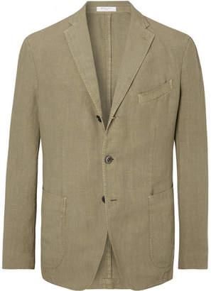 Boglioli Olive K-Jacket Linen Suit Jacket