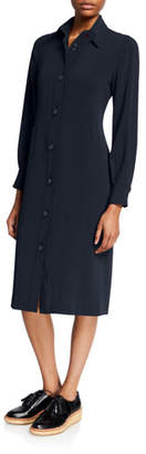 Aspesi Long-Sleeve Button-Front Jersey Shirtdress