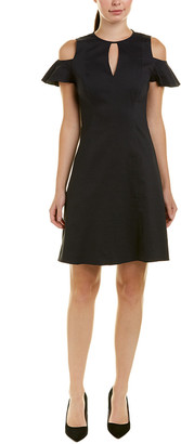 Elie Tahari Linen-Blend A-Line Dress