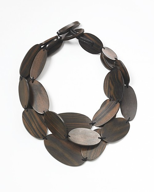 Monies Triple Wood Necklace