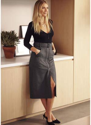 G. Label Annika Long-Sleeve Henley Bodysuit