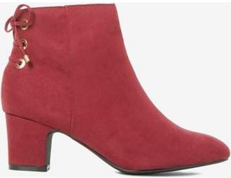 Dorothy Perkins Womens Wide Fit Burgundy 'Alma' Boots