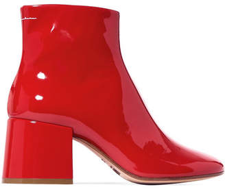 MM6 MAISON MARGIELA Patent-leather Ankle Boots - Red