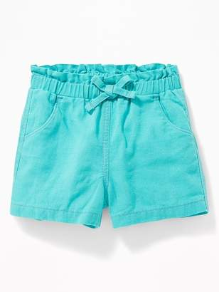 daa575689 Old Navy Linen-Blend Paperbag-Waist Shorts for Toddler Girls