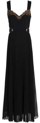 Roberto Cavalli Embellished Crepe Maxi Dress