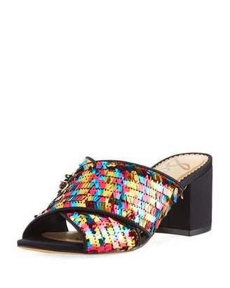 Sam Edelman Stanley Pinata Sequin Slide Sandal