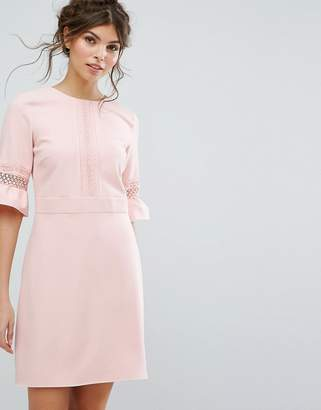 Oasis Lace Fluted Sleeve Shift Dress $103 thestylecure.com